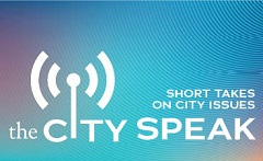 Logo graphic for The City Speak Podcast: Short Takes on City Issues