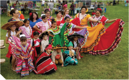 The Rosa Quetzal Dancers, performed at the Creative City Celebration.