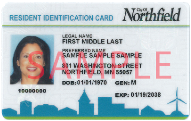 Sample of a Resident Identification Card