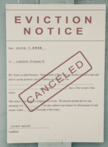 Eviction notice sign