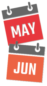 Calendar May and June.