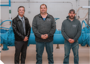 Three city of Pipestone staff in the water treatment plant