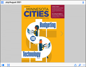 electronic publication of the Minnesota Cities Magazine July August issue